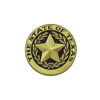 Texas State Seal Brass Magnet