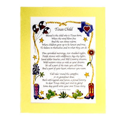 Texas Child Poem