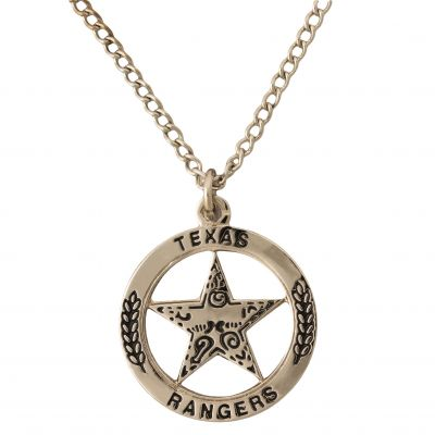 Texas Ranger Silver Tone Pendant Necklace
