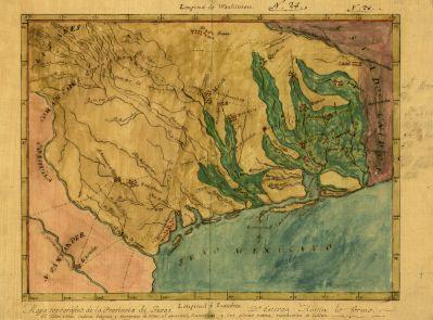 Stephen F. Austin Mapa topografico de la provincia de Texas, ca 1822