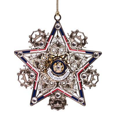 Texas Star Lighted Ornament